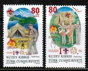 2007 UNMOUNTED MINT STAMPS - SCOUTS - TURKISH CYPRUS