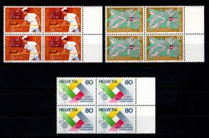 Switzerland 1985 Publicity Issue Block Set [Mint]