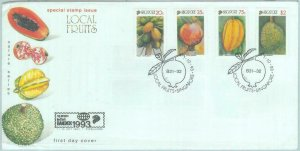 84443 -  SINGAPORE  - Postal History - FDC COVER w/ Information 1993 - FRUIT