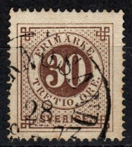 Sweden #25 F-VF  Used  CV $11.00 (X5145)