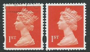 Great Britain - QE II Machin SG 1666  & SG 1667