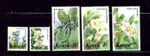 Kenya 350-54 MNH 1985 Flowers