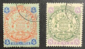 Rhodesia #32,37 Used - British South Africa Company