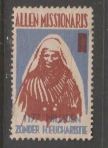 Cinderella revenue fiscal stamp 9-9-28 Missionaries Africa?