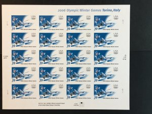 2006 sheet of stamps Winter Olympics - Turin or Torino, Sc #3995