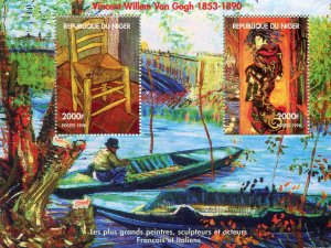 Niger 1998 VAN GOGH Paintings s/s Perforated Mint (NH)