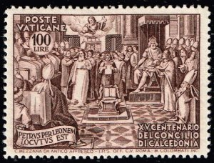 ITALY VATICAN STAMP 1951 100th Anniversary of the Churchmeeting 100L MH/OG $35
