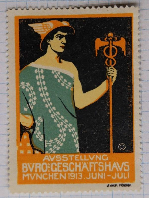 Medical medicine doctor business expo fair 1913 Munich Germany Poster BVRO ad