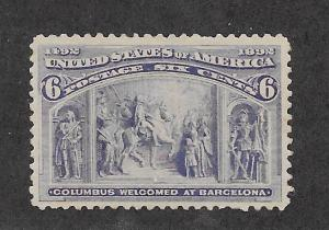 235 MNH,  6c. Columbian, scv: $160, Free, Insured Shipping