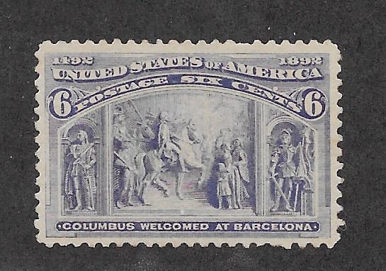 235 MNH,  6c. Columbian, scv: $160, Free, Insured Shipping