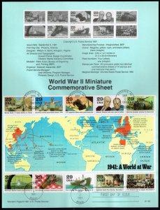 US #SP963 (2559) World War II (4Stars)