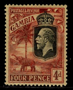 GAMBIA GV SG129, 4d red/yellow, LH MINT. Cat £29.
