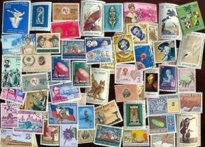 100 ALL DIFFERENT HAITI STAMPS
