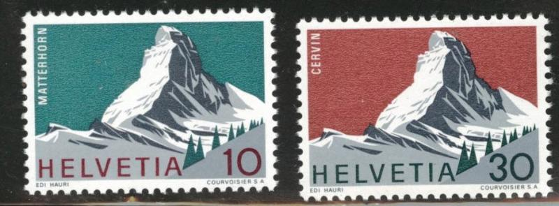 Switzerland Scott 467-8 MNH**  1965 Matterhorn set