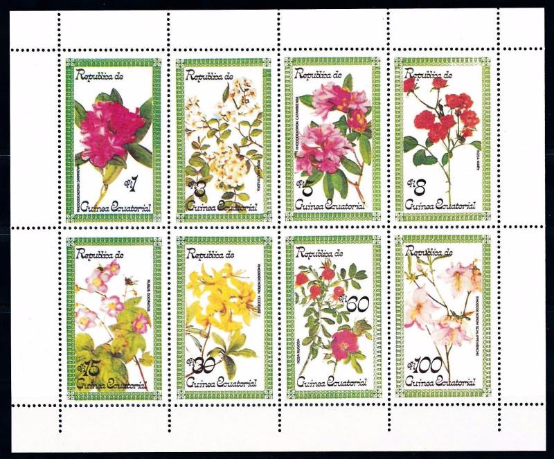 [66906] Equatorial Guinea Local Issue  Flora Flowers Blumen Sheet MNH