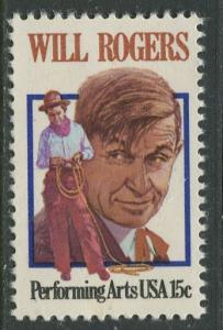 USA - Scott 1801 - Will Rogers -1979- MLH - Single 15c stamp
