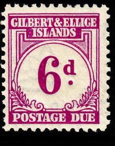 GILBERT & ELLICE ISLANDS SGD6, 6d purple, M MINT. Cat £21.