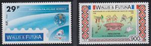 Wallis and Futuna 383-384 MNH (1989)