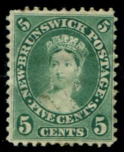 8 New Brunswick 5c Queen Victoria, used