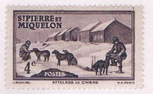 St Pierre and Miquelon 174 MNH Dog Team 1938 (S0967)