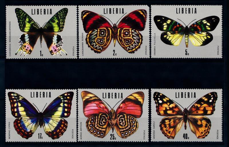 [70784] Liberia 1974 Insects Butterflies 2c Short corner MNH