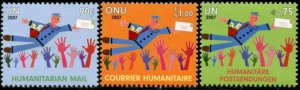 UNITED NATIONS Sc# NY 944 Geneva 475 Vienna 403 2007 Humanitarian Mail MNH