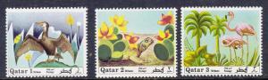 Qatar 238-240 Mint OG 1971 Animals