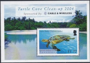 British Indian Ocean Territory 2005 Turtles MS MNH CV £6.50
