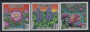 Cambodia, Scott #231-233; Flowers, MH