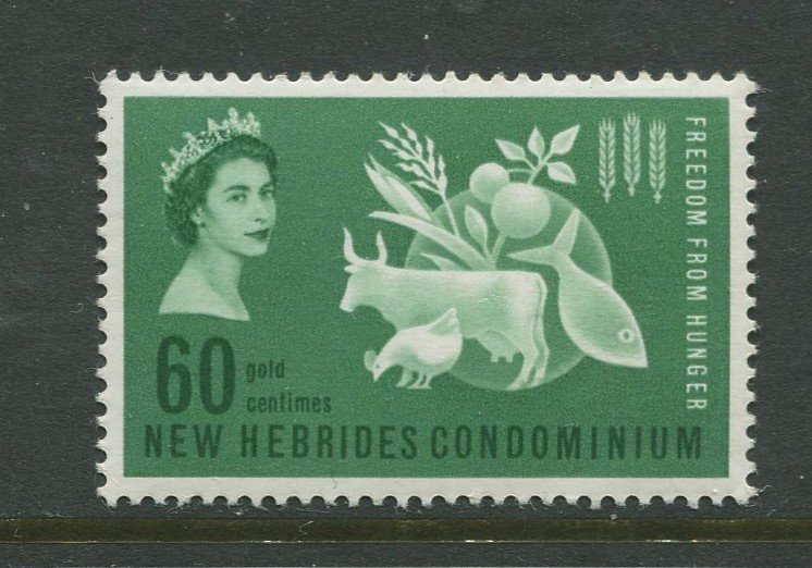 STAMP STATION PERTH New Hebrides British #93 Freedom from Hunger MNH CV$1.00