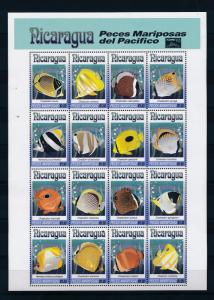 [38314] Nicaragua 1993 Marine Life Fish Taipei 93 MNH Sheet