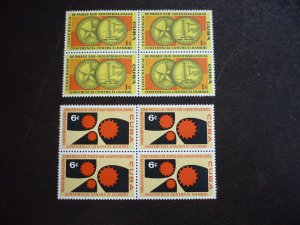 Stamps - Cuba - Scott# 663-665,C215-C218 - Mint Hinged Set of 7 Stamps in Blocks