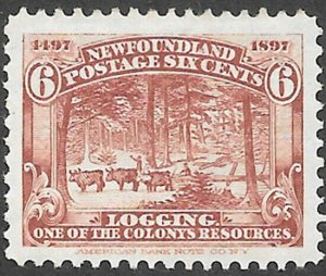 Newfoundland Scott Number 66 VF H