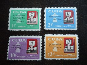 Stamps - Cuba - Scott# 682-685 - Mint Hinged Set of 4 Stamps