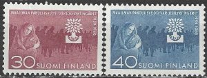 Finland  368-9    MNH   World Refugee Year