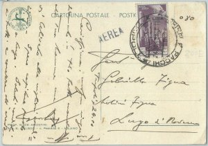 71589 - STORIA POSTALE - LIBIA Libya 1941 - Sassone PA 48  ISOLATO su cartolina