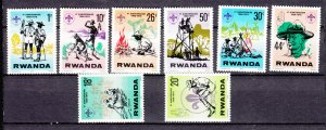 J27594 1978 rwanda set mh #849-56 scouts