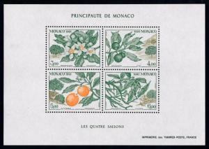 [69635] Monaco 1991 Flora Flowers Orange Tree Souvenir Sheet MNH
