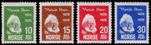 Norway Scott 132-135 (1928) Mint H VF Complete Set, CV $24.50 C
