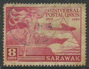 STAMP STATION PERTH Sarawak #176 UPU Used 1949