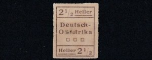 GERMAN EAST AFRICA  1916  WUGA LOCAL 2 1/2H UNISSUED NO GUM