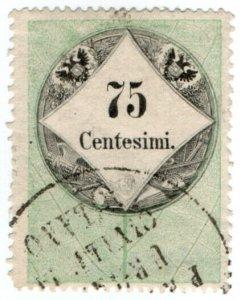 (I.B) Austria/Hungary Revenue : Stempelmarke 75c (Lombardy-Venetia)