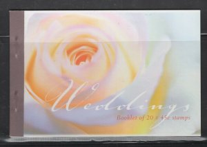 Australia #1775a (1999 Greetings Prestige Booklet of five panes) VFMNH CV $27.50