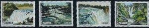 Zambia 1993 Waterfalls of Zambia  4 Stamp Set   26A-018