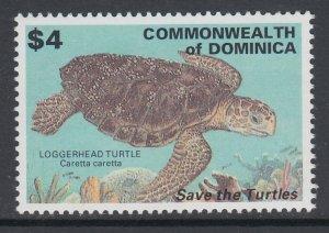 Dominica 1554 Turtle MNH VF