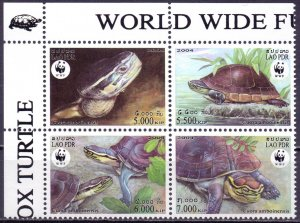 Laos. 2004. q1927-30. Turtles fauna. MNH.