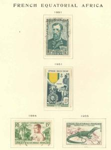 French Equatorial Africa 185-188 Used VF