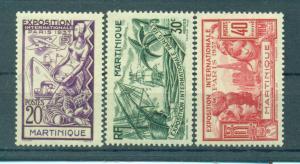 Martinique sc# 180-185 (1) mh cat value $11.20