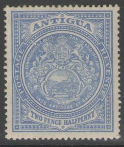 ANTIGUA SG46 1908 2½d ULTRAMARINE MTD MINT
