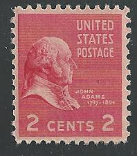 US Cat 806 John Adams MNH